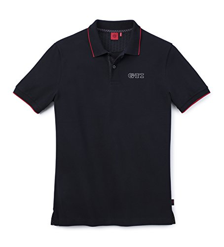 Volkswagen 5GB084230A041GTI Polo-Hemd für Herren, aus Baumwolle, schwarz, Größe S
