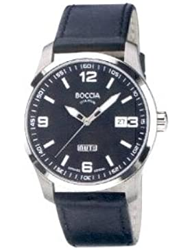 Boccia Herren-Armbanduhr Mit Lederarmband Sport 3530-03
