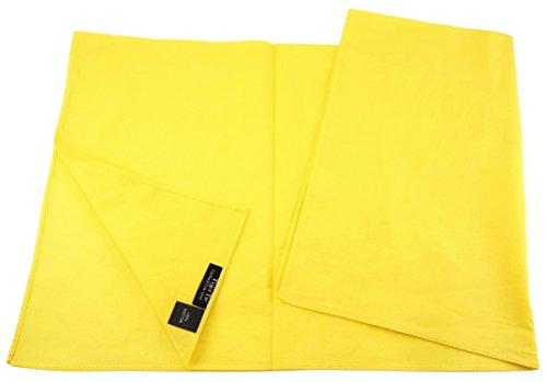 tuch Halstuch in gelb einfarbig Uni - Tuchgröße 60 x 60 cm - 100% Baumwolle ()