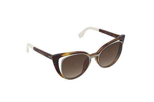 Fendi ff 0136/s, occhiali da sole donna, nero (ruthenium), 51
