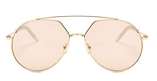Daesar Sonnenbrille Trend 2019 Gold Braun mit PC Linse Damen Sonnenbrille Sport
