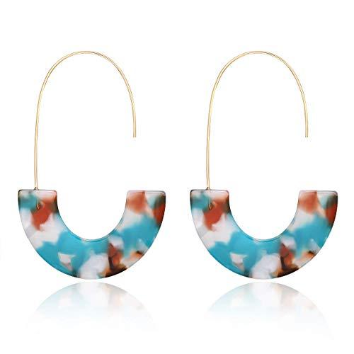J.Fée Acrylique Boucles d'oreilles Résine Wire Drop Dangle...
