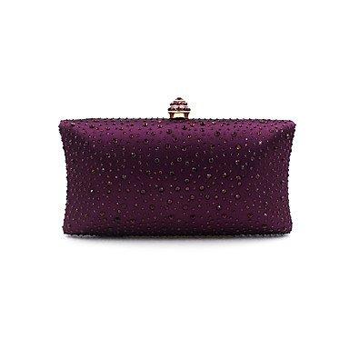 pwne L. In West Woman Fashion Luxus High-Grade Diamdons Abend Tasche Purple