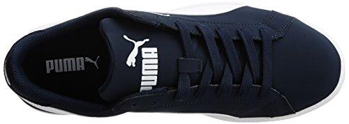 Puma Puma Smash Buck, Unisex-erwachsene Sneakers Blau (peacoat-white 01)