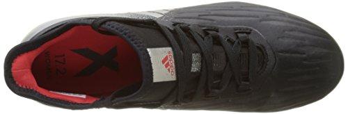 adidas X 17.2 Firm Ground, Scarpe da Calcio Donna Nero (Core Black/platin Metallic/core Red)