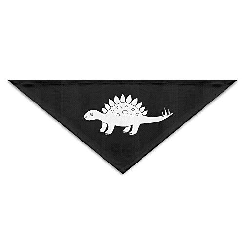 Gxdchfj Pet Scarf, Stegosaurus Dinosaur Outline Dog Bandanas Scarves Triangle Bibs Scarfs Cute Basic Neckerchief Cat Collars Pet Costume Accessory Kerchief for Large&Medium&Small Puppy -