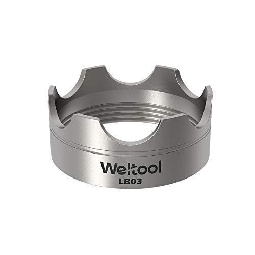 Weltool Maglite Taschenlampen Lünette Aufrüstung - 304 Edelstahl für Maglite C oder D Cell Taschenlampen - LB03 Modell für Maglight Glass Breaker Maglite O-ring