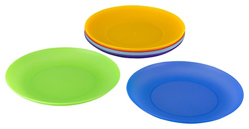 Kigima flache Teller 8er Set Rainbow bunt 21 cm Durchmesser