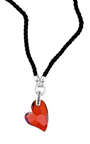 Guess Damen Halskette Metall Silber/Schwarz/Bordeaux UBN71257