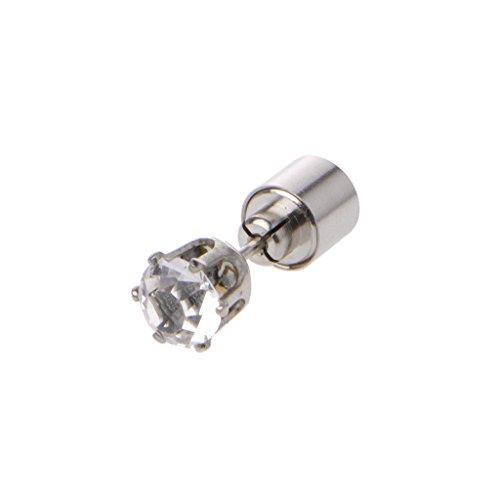 JAGENIE Shiny Diamond LED Farbwechsel Ohrstecker leuchten blinkenden blinkenden Ohrring, Multi Color, 1 PC