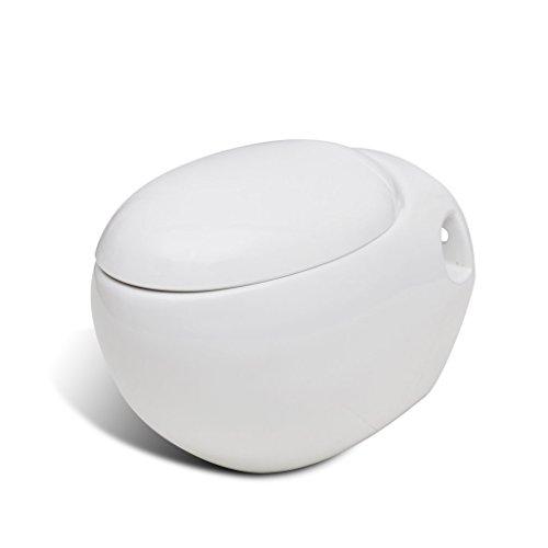 Inodoro nuevo Mural Diseño único de huevo blanco