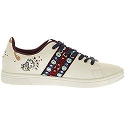 Desigual Shoes_Cosmic Exotic Lettering, Scarpe da Ginnastica Basse Donna