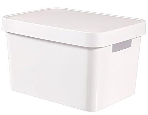 Curver 04743-N23-01 Infinity Boîte à Rangement avec Couvercle Plastique Blanc 36,3 x 27 x 22,2 cm 17 L