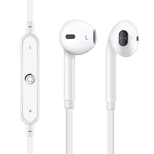 Drahtloser Sport-Bluetooth Kopfhörer, Sport-wasserdichte Kopfhörer mit Mikrofon für laufende Training bequeme Kopfhörer (Weiß) Ich Sport Wireless Kopfhörer