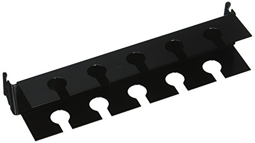 Wall Control ASM-SL-008 B Pegboard Slotted Tool Holder Bracket Slotted Metal Accessory for Wall Control Pegboard Only, Black
