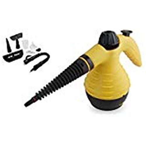 Jocca 3050 Limpiador a Vapor, 5 accesorios, 1000 W, plastico, Blanco y amarillo