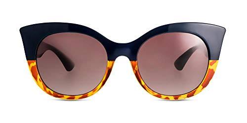 MessyWeekend Thelma Oversized, Damen Cateye Designer Sonnenbrillen mit UV400 Schutz Schwarz