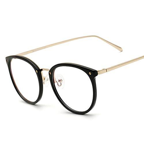 Männer Frauen Plain Glasses Retro Large Frame Brille Trend Ultra Light TR90 Brillengestell Sunglasses LPLHJD (Color : 02 schwarz, Size : Kostenlos) -