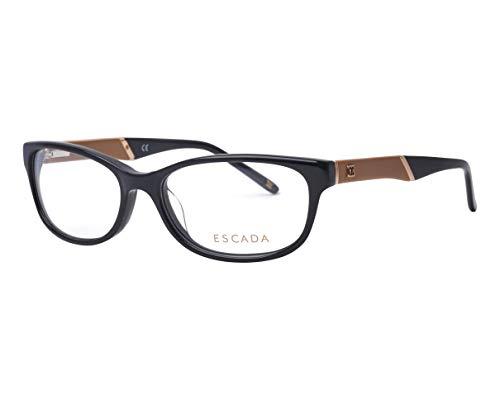 Escada Brille (VES-208 0700) Acetate Kunststoff schwarz glänzend - beige