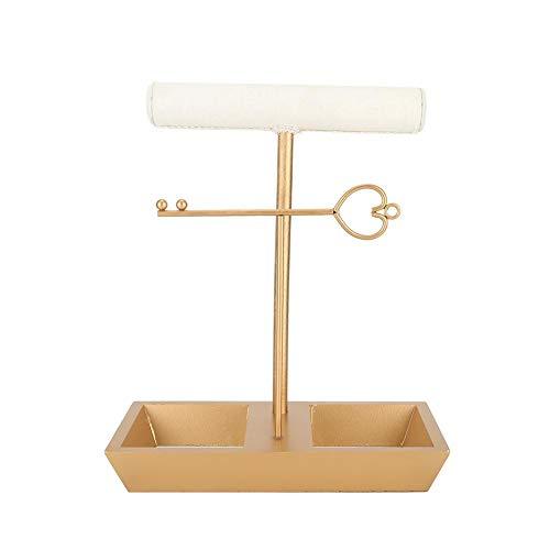 Schmuckständer, Metall hängende Schmuck Organizer, nordischen Stil Schreibtisch Dekor Tower Storage für Ornament Armband Halskette Ohrring mit Boot Form Place Base (Boot-tisch Base)