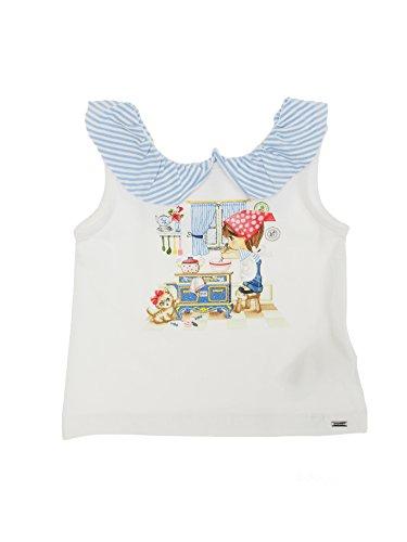 Mayoral 28-01032-092 - T-Shirt Kurzarm Rüsche für Baby - Mädchen 12 Monate (80cm) Lavendel -