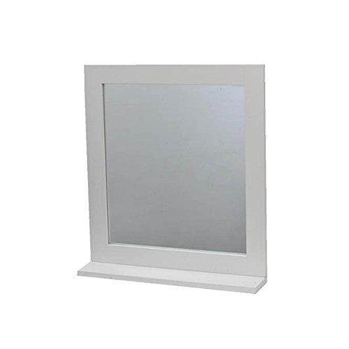 2 in 1 Specchio con mensola da bagno - stile puro - colore BIANCO .