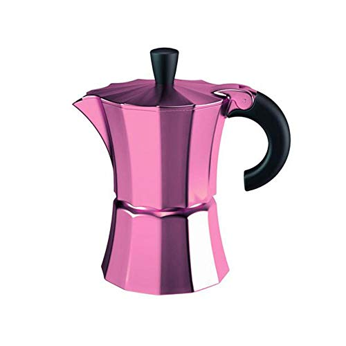a Coffee Maker 6 Tassen lila Kaffeebereiter, Aluminium-Kunststoff, 16,5 x 10 x 21 cm ()