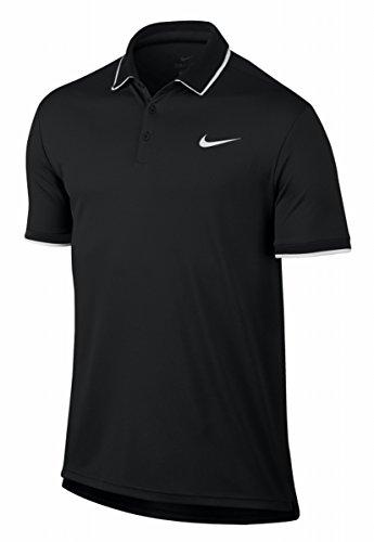 Nike Di M L'uomo Polo Nero bianco Squadra Multicolore Manica Bianco Bianco Corta Maglietta Nkct Asciutto Tennis Da xIIfdPwrq