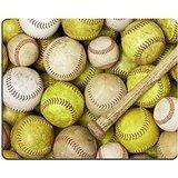 Luxlady Gaming Mousepad una foto di baseball Softballs e un pipistrello Image ID 5299464