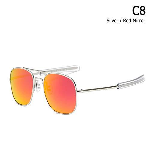 ZHOUYF Sonnenbrille Fahrerbrille Mode Polarisierte Ao Armee Militärischen Stil Luftfahrt Sonnenbrille Männer Fahren Markendesign Sonnenbrille Oculos De Sol, G
