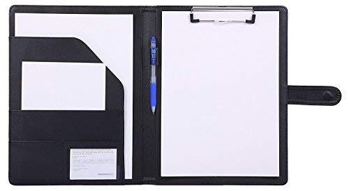 Klemmbrett A4 Ordner Klemmbrettmappe A4 Schreibmappe Klemmbrett Mappe mit Klemmbrett(Schwarz)