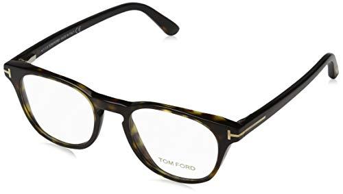 Tom Ford Unisex-Erwachsene Ft5410 Brillengestelle, Braun (AVANA SCURA), 47