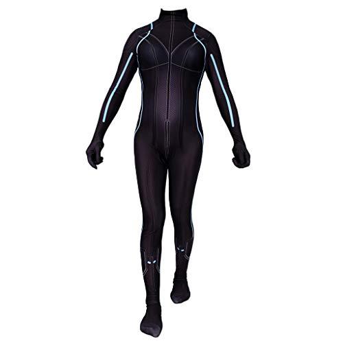 splay zentai Kostüm Black Widow Kostüm Erwachsene Frauen Strampler Rollenspiele Bühne Leistung Strumpfhosen Party Halloween Outfit,Black- 115~125cm ()