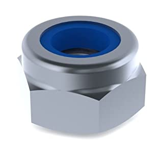 M8 Nylon Locking Nuts (DIN 985) - A4 Stainless Steel. Pack of 25