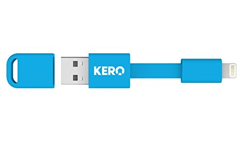 Kero Nomad - Cable para llavero para dispositivos Lightning de Apple a USB, azul