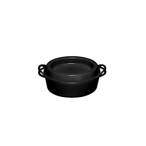 Le Creuset DOUFEU Oval, Hierro Fundido, Negro, 35 cm