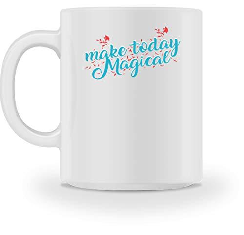SPIRITSHIRTSHOP Make Today Magical, Mache Den Heutigen Tag Magisch - Magie, Wunder, Kraft, Energie, Freude - Tasse -M-Weiß