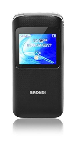 Brondi Window 1 77  78g Negro Caracter  stica del tel  fono - Tel  fono m  vil  Concha  SIM doble  4 5 cm  1 77    1 3 MP  600 mAh  Negro