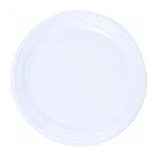 Plaques en plastique rondes 23cm, blanc 20 par paquet