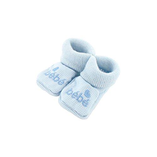 Chaussons pour bébé 0 à 3 Mois bleu - Motif Bébé