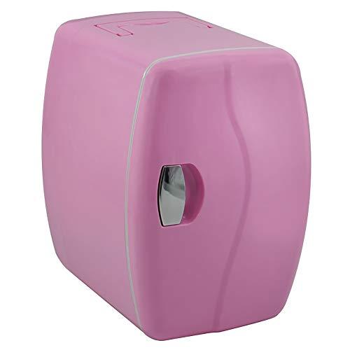 (DULPLAY 4L Tragbare Auto Kühlschrank,Mini Kühlteil,Kühler und Wärmer Tragbare Kompakt Wohnheim Größe Droge-Brust Milch Für Zuhause, Büro und Auto-Rosa 25.9x26.9x20.4cm(10x11x8inch))