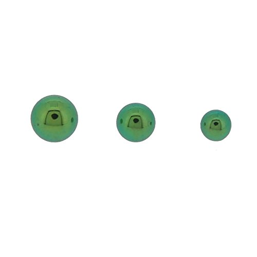 Accessoire Piercing Bille Vissable Titane Vert 1.2mm