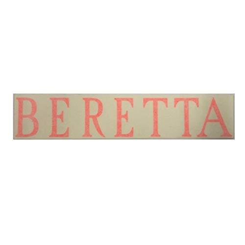 Beretta adesivo made in italy per canne di fucile sovrapposto con scritta in colore arancione, resistente ad alte temperature e a oli professionali per la manutenzione, dimensioni 18,5 x 3,8 cm