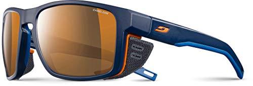 Julbo Shield Sonnenbrille Unisex, Uni, Shield, Bleu/Bleu/Orange