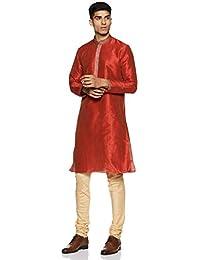 Manyavar Men's Full Sleeve Kurta & Churidar Set (S952712)