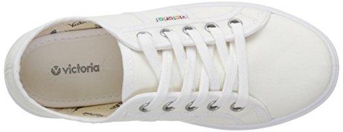 Victoria Lona Plataf, Baskets Basses Mixte Adulte Blanc (20 Blanco)