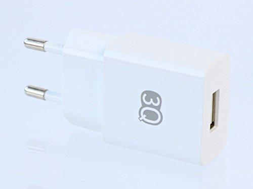3Q USB Ladegerät 11W 2100mA 2.1A 5V Ladeadapter EU Netzteil für Tablet und Handy Weiß