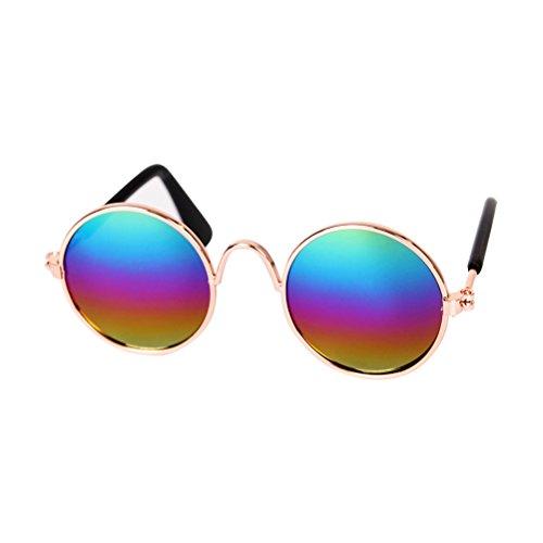 Zhhlaixing Hundewelpen Sonnenbrille Hundesonnenbrille Pet Sonnenbrille Katzen Brillen Pet Fotos Requisiten Eye-Wear UV-Schutz