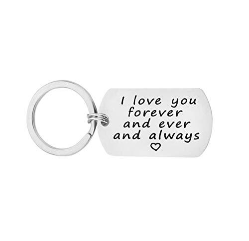 DOLOVE Llavero Regalo Grabado I Love You Forever and