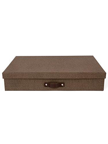 Bigso Box Of Sweden 9341Scatola portaoggetti, formato A3,in cartone marrone scuro, 31x 43,5x 8,5cm